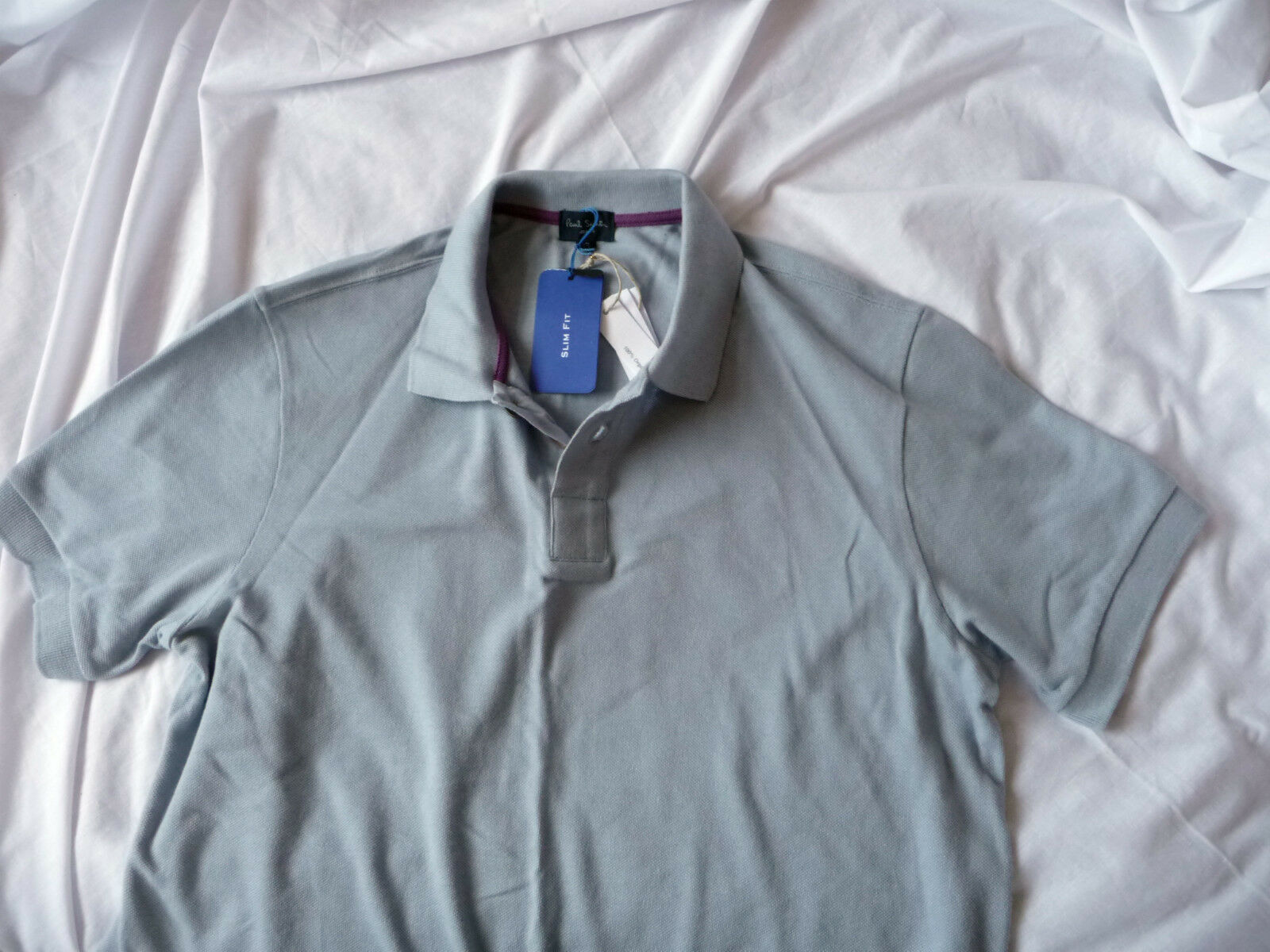 Paul Smith  Jeans   Brand new Grey POLO Shirt Size Large rrp
