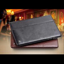 iPad Air / iPad 5 Echtleder Tasche Etui Flip Case Cover Hülle Zubehör Apple Neu