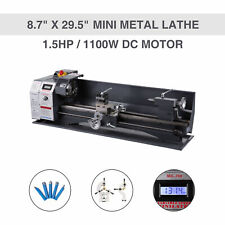 Upgraded 15hp 1100w Dc 87 295 Mini Metal Lathe Bench Top Milling 5 Tools