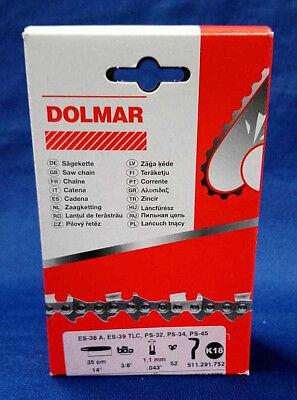 """Sägekette passend für Dolmar PS2 30 cm 3//8"""" 1,1 mm 45 TG Halbmeißel chain"""