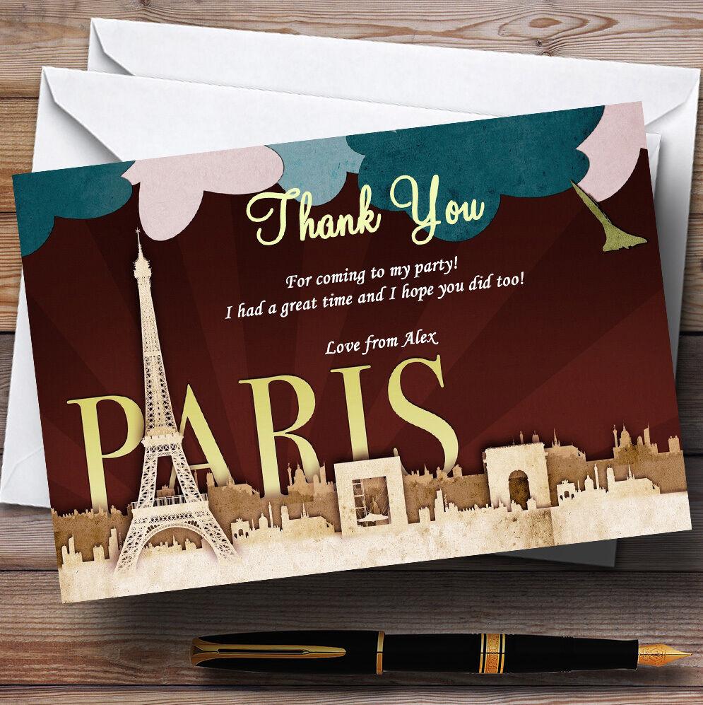 Paris chic parisien Personnalisé Fête Fête Personnalisé D'Anniversaire cartes remercieHommes t f2b0d1