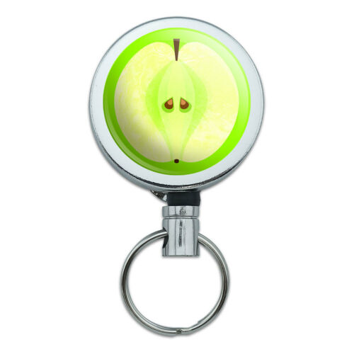 Retractable Reel Badge Key Holder with Belt Clip Food Drink Bacon Coffee