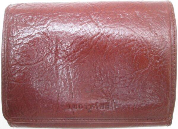 -authentique Portefeuille/porte-monnaie Ludivine Cuir Tbeg Vintage Prendiamo I Clienti Come Nostri Dei