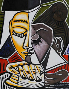 Pablo-Picasso-Head-of-a-Woman-Reading-canvas-print-giclee-8X12-amp-12X17