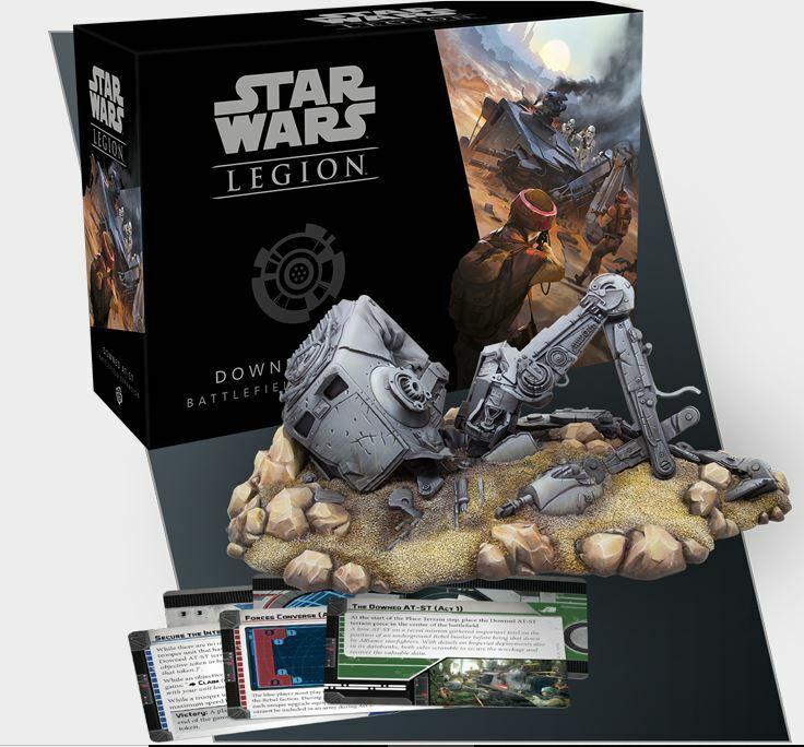 Star Wars Legion Downed AT-ST Battlefield
