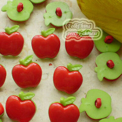 Red Fruit 20mm Plastic Buttons Sewing Scrapbooking Collectable Craft CHB