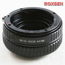 Nikon G AF-S F Lens To Canon EOS M M2 Adapter Adjustable Macro Focusing Helicoid