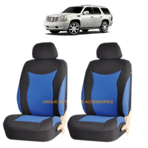 BLUE SPEED FRONT LOWBACK SEAT COVERS for CADILLAC CTS ESCALADE