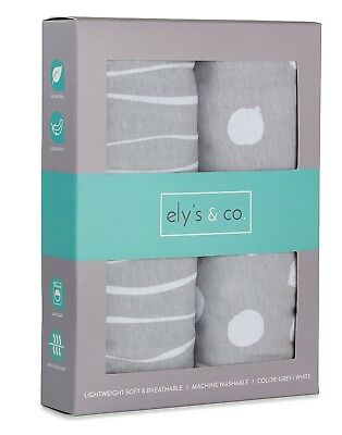 Pack n Play Sheet | Mini Crib Sheet Set 2 Pack Grey and ...