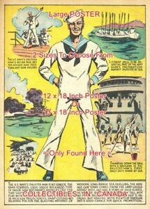 NAVY-1941-Enlisted-Man-UNIFORM-Military-POSTER-Not-Comic-Book-2-SIZES-18-034-19-034
