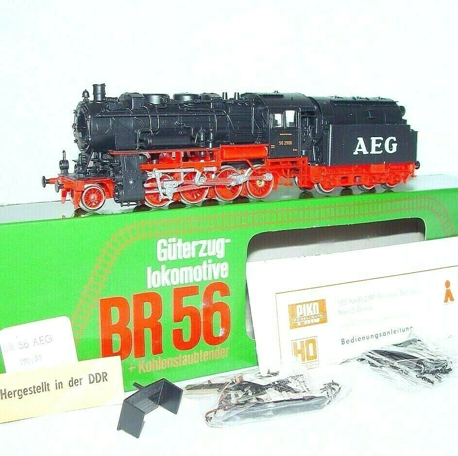 Piko HO DR Deutsche Reichsbahn BR-56 STEAM LOCOMOTIVE + Coil Powder Tender MIB