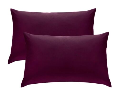 2 X Pillow Case Luxury Fine Poly cotton Housewife Pair Pack Pillows Cover Cases