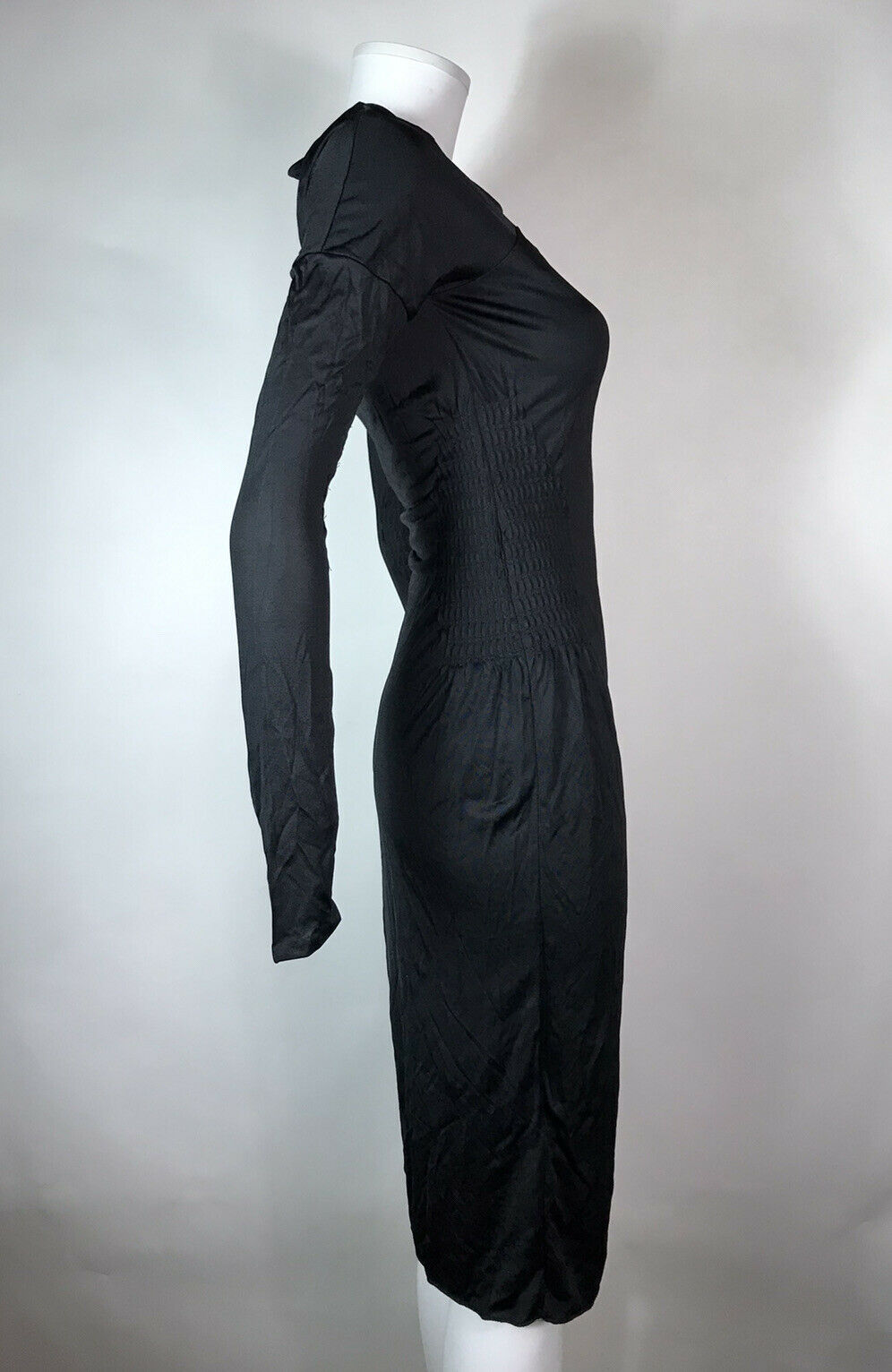 Rare Vtg Gucci Black Cut Out Dress S - image 4