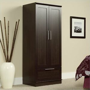 Details about Armoire Wardrobe Bedroom Closet Storage Organizer Clothes  Cabinet Brown Wood
