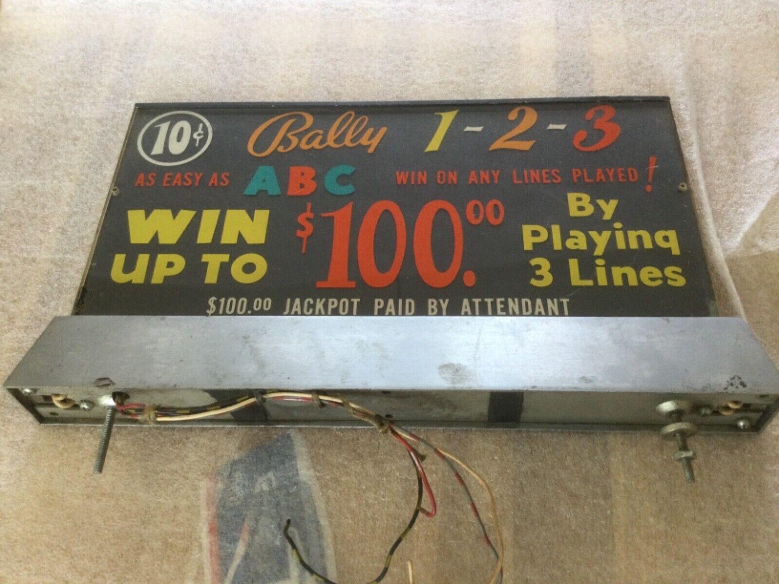 Bally lit slot machine topper from Vegas casino 1960/70..Rare & original