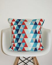 """HARLEQUIN KALEIDOSCOPE """"ALL ABOUT ME"""" FABRIC CUSHION COVERS 18"""" MULTI GEOMETRIC"""