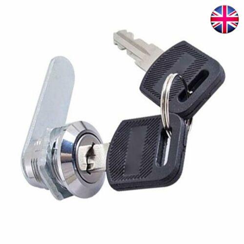 Cam Lock for Door Cabinet Mailbox Drawer Cupboard 16mm 20mm 25mm or 30mm 2Keys