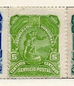 Charitable Honduras 1892 Early Question Fine Mint Charnière 5c. 090648