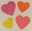 """2/""""x2/"""" RF6002 400 Heart Stickers in roll of 100 modules each sticker 7//8/"""""""