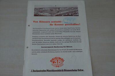 200169) Dechentreiter - Dreschmaschinen Modellprogramm - Prospekt 1951