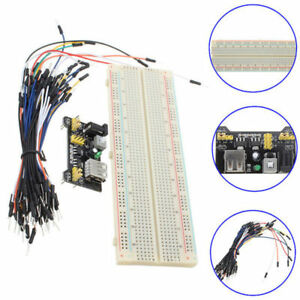 MB-102-830-Point-PCB-Breadboard-Module-Power-Supply-65pcs-Jump-Cable-Wires