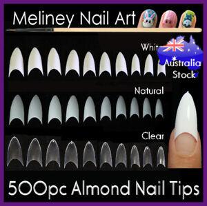 500pc-Almond-Tips-Stiletto-Pointy-Oval-Nails-False-Shape-Acrylic-Gel-Claw-Nail