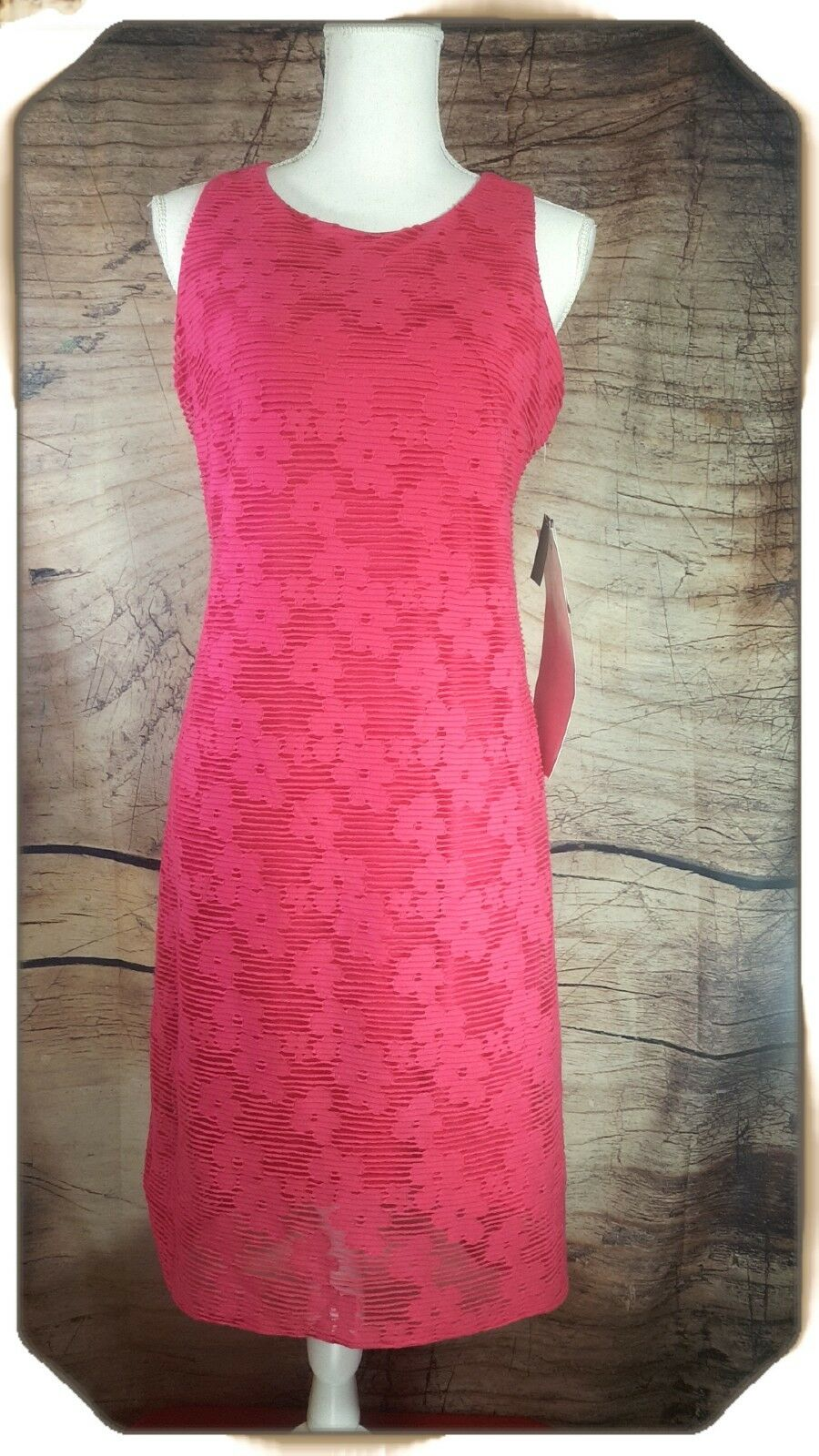 NWT Nine West Women's Dress Pink High Low Shift Size 4 A05