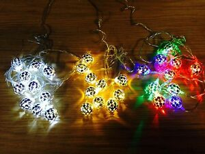 2m led christmas xmas bauble tree party string outdoor garden
