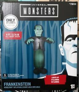 NEW-Gemmy-9-Foot-Airblown-Frankenstein-Monster-Halloween-Decoration-Universal