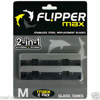 Flipper Max Stainless Steel Replacement Blades (2 Pack) Free Usa Shipping