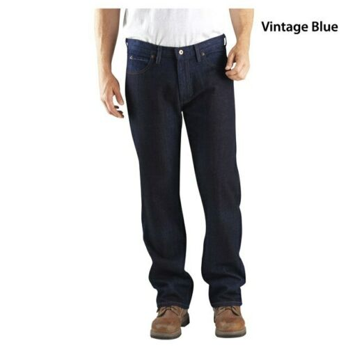 "Dickies Men/'s Relaxed Straight Fit 5-Pocket Denim Jean Blue 36/"" 32/"" Leg DD210"