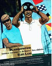 PUBLICITE ADVERTISING 026  1964  Kangourou Ban-Lon  shirts  polos