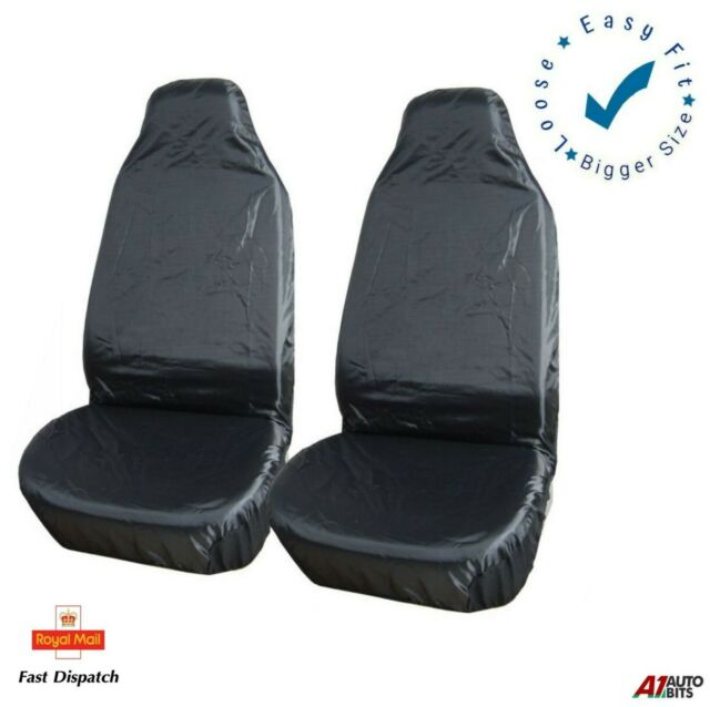 Grey Camouflage Heavy Duty Waterproof Front Pair Car Van Seat Covers 2 x Fronts