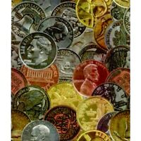 Coins Money Gift Wrapping Paper -large 26x30' Roll