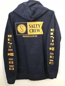 Salty Crew Island Time Pullover Hoody Gunmetal Heather
