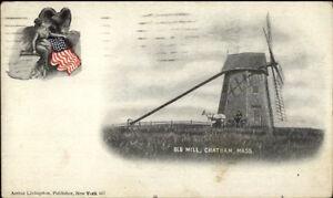 Chatham-Cape-Cod-MA-Old-Windmill-c1900-Postcard