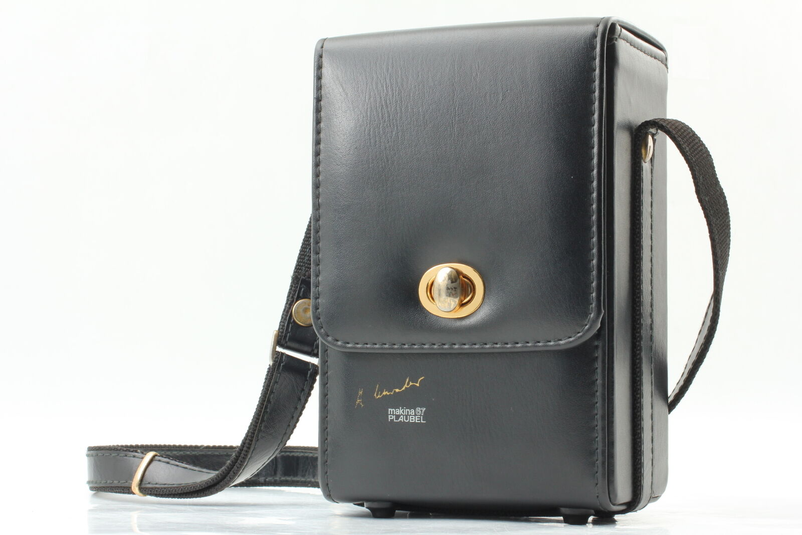 [MINT] Plaubel Makina 67 Camera Leather Carry Case w/ Strap From JAPAN