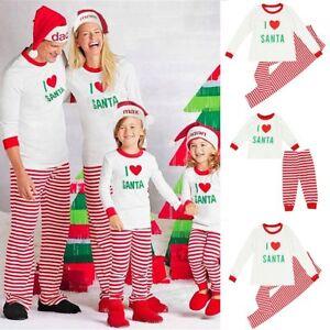 2ff83bcbb3 Image is loading Family-Matching-Christmas-Pajamas-PJs-Sets-Xmas-Sleepwear-
