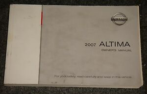 2007 nissan altima owners manual ebay rh ebay com nissan altima owners manual 2009 nissan altima owners manual 2017