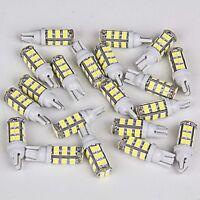 20x Xenon White 5.6W T10 921 Wedge 28SMD Interior LED License Plate Light Bulbs