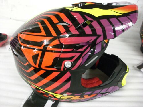 FLY Off-Road HELMET XL or 2XL Purple and Red #STRG