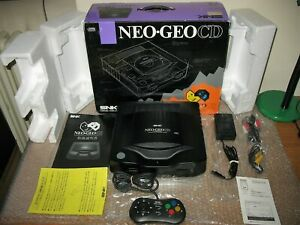 BOXED NEO GEO CD TOP LOADING CONSOLE JAP IMPORT!