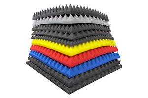 Pyramiden-Noppen-Raum-Akustik-Schall-Daemmung-Schaumstoff-Color-Selbstklebend