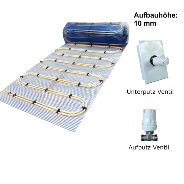 Warmwasser Fu/ßbodenheizung TAC 5m/² Paket E-Regelbox Digital