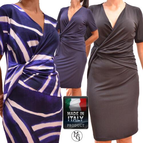 Abito donna cerimonia,vestito jersey made in Italy morbida,calibrato,46,48,58,62