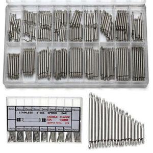 360-tlg-Federstege-Federstifte-Uhrenstifte-Edelstahl-fuer-Uhrarmband-8-25mm-Tool