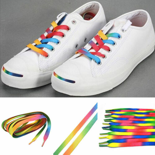 5Pairs Rainbow Color Athletic Shoelace Unisex Sneakers Shoe Laces Strap Strings