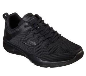 Skechers-Nero-Extra-Wide-Fit-Scarpe-Uomo-Memory-Foam-morbido-Mesh-Sport-Comfort-52927