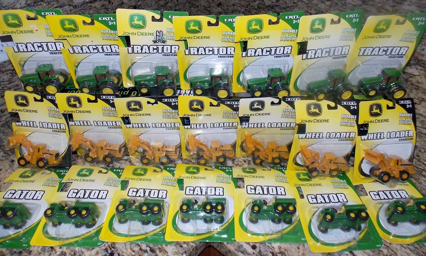LOT of (21) NEW ERTL JOHN DEERE Tractors, Wheel Loaders & Gators Factory Sealed