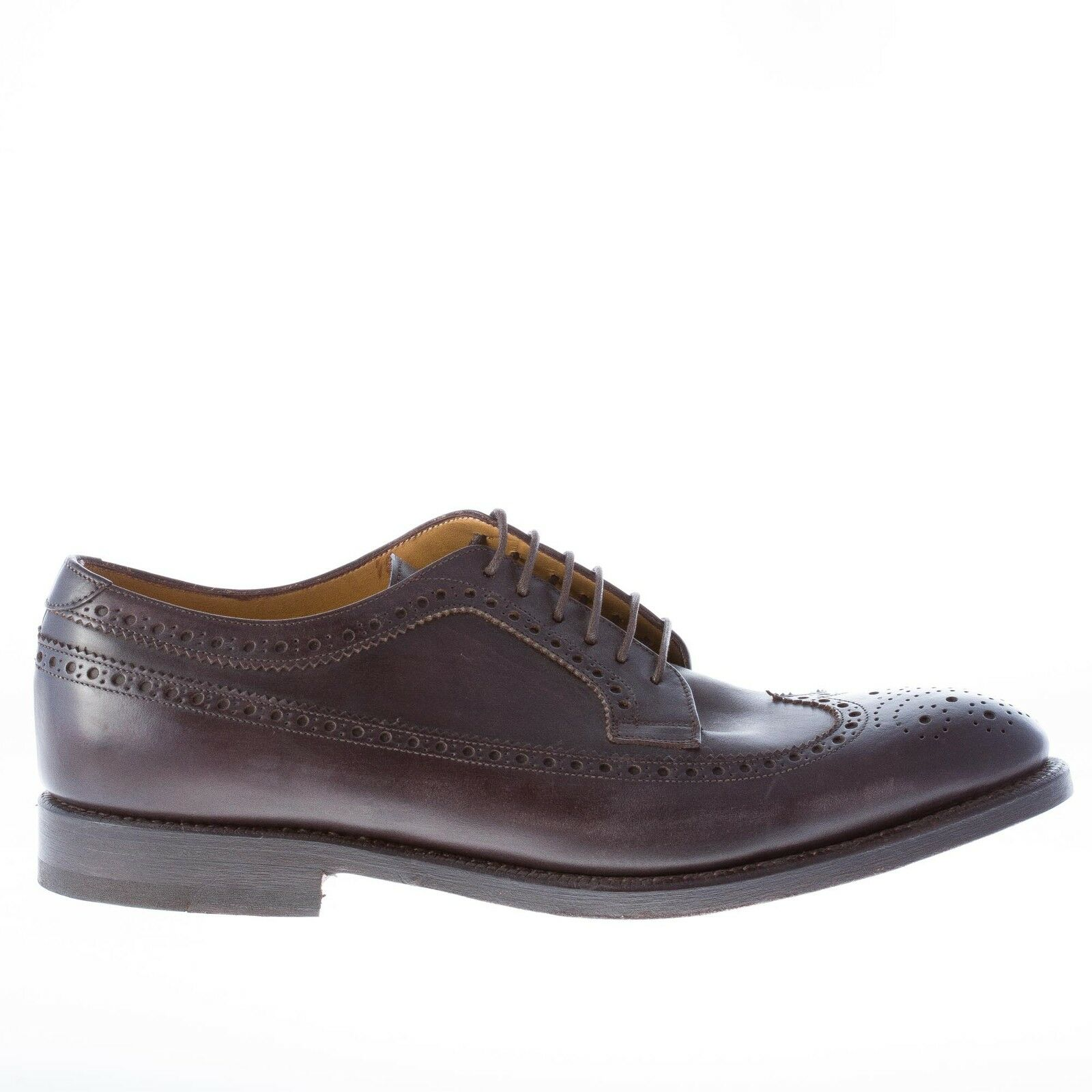 MIGLIORE herren schuhe men shoes made in Italy Dark brown leather oxford brogue